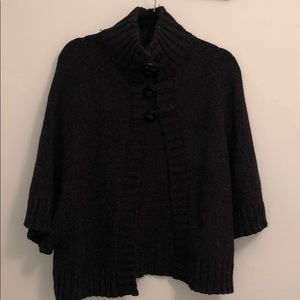 Charcoal grey sweater cape